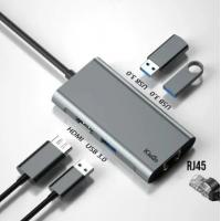 Adaptador Hub Macbook Pro/Air Usb Tipo C / USB 3.0 Hdmi 4k Kingo Ethernet Rj45