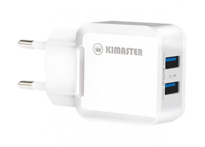Carregador Kimaster de parede Dual USB 2.1A Auto-ID - TO350X