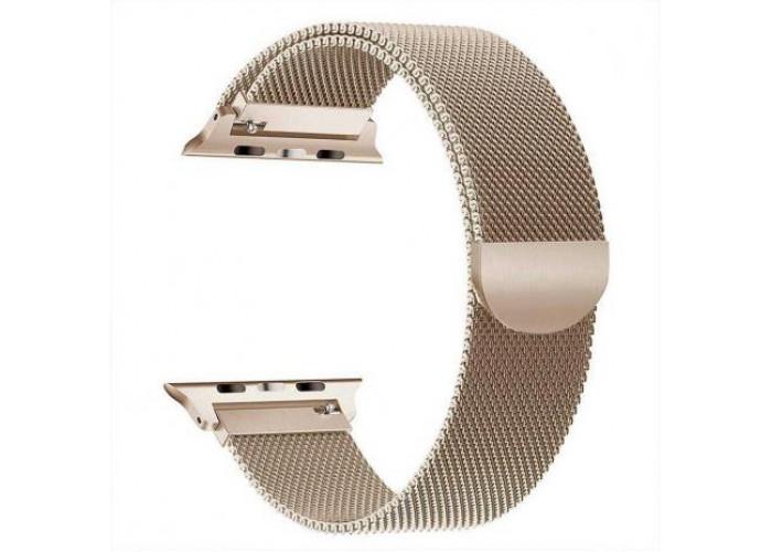 Pulseira 1˚Linha Milanese Dourada para Apple Watch 38mm e 40mm
