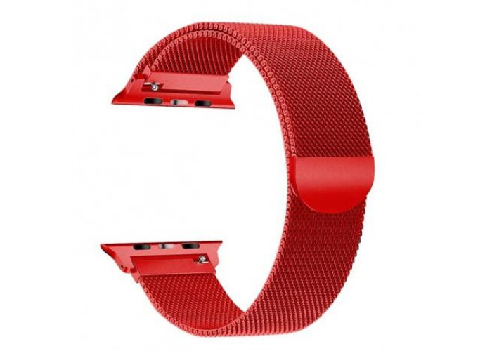 Pulseira 1˚Linha Milanese vermelha para Apple Watch 38mm e 40mm