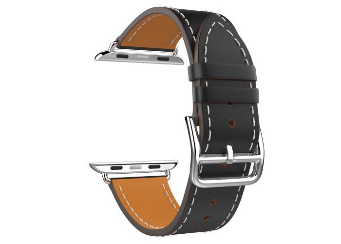 Pulseira 1˚Linha Couro Preta para Apple Watch 38mm e 40mm