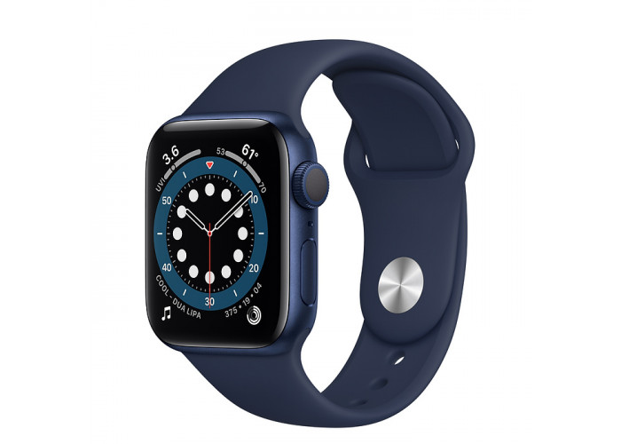 Watch Series 6 40mm Caixa Azul de Alumínio com Pulseira Azul Esportiva: Modelo GPS