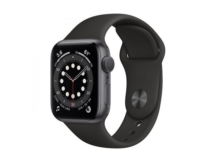 Watch Series 6 44mm Caixa Cinza-espacial de Alumínio com Pulseira Preta Esportiva: Modelo GPS