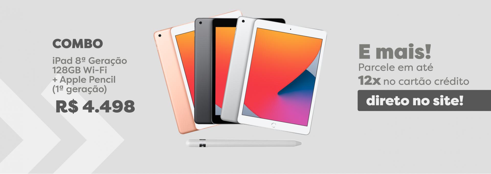 Combo iPad 8ª Geração Go Imports