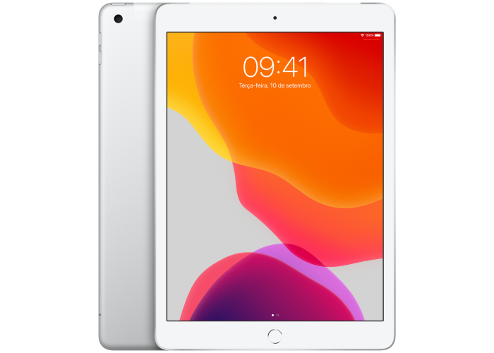 iPad 7˚Geração Prateado 128GB Wifi + Cellular