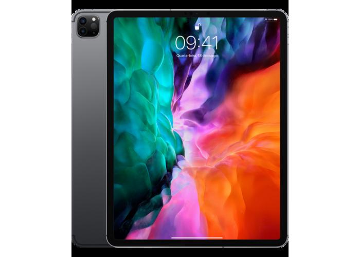 "iPad Pro (2020) 12.9"" 4ª Geração Cinza-Espacial 256GB Wi-Fi + Cellular"