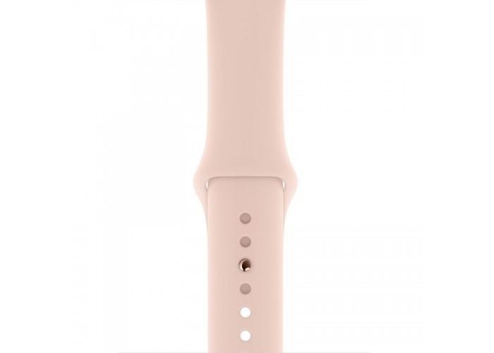 Watch Series 4 44mm Caixa Dourada de Alumínio com Pulseira Rosa Esportiva