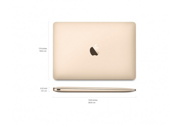 "MacBook 12"" Gold Core M3 1.2Ghz 8GB Ram 256GB SSD - Modelo MNYK2LL (2017)"