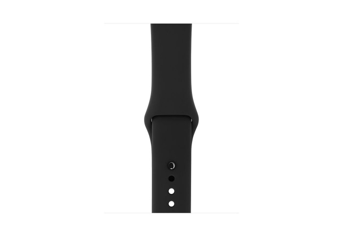Watch Series 3 42mm Caixa Cinza Espacial de Alumínio com Pulseira Esportiva Preta