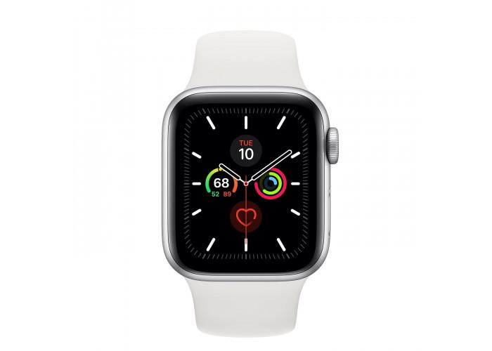 Watch SE 40mm Caixa Prateada de Alumínio com Pulseira Branca Esportiva: Modelo GPS
