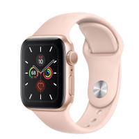 Watch SE 40mm Caixa Dourada de Alumínio com Pulseira Rosa Esportiva: Modelo GPS - Pré-venda