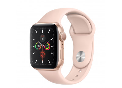 Watch Series 5 40mm Caixa Dourada de Alumínio com Pulseira Rosa Esportiva: Modelo GPS